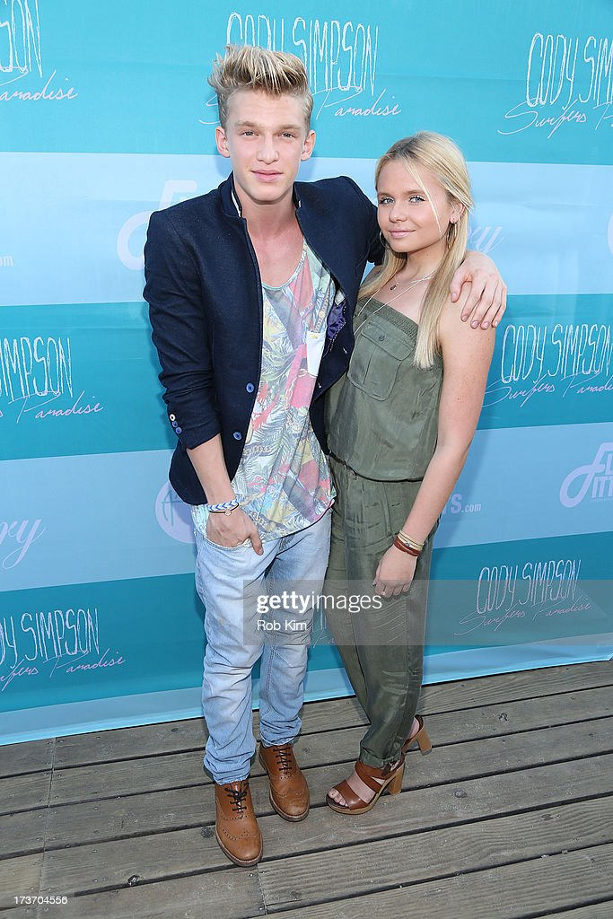 Cody Simpson and Alli Simpson attend the 'Surfer's Paradise' album release party at Beekman Beer Garden Beach Club on July 16, 2013 in New York City.