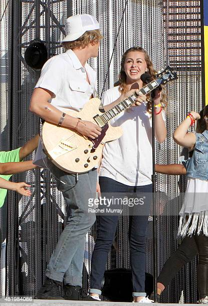 Cody Simpson and Bree Bogucki open the 2015 Los Angeles Special Olympics World Games by performing the CocaCola Unified song Reach Up during the...