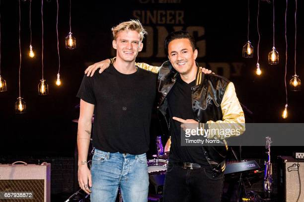 Cody Simpson and RedOne attend Guitar Center's 6th Annual SingerSongwriter Grand Finale Concert at The Troubadour on March 24 2017 in Los Angeles...