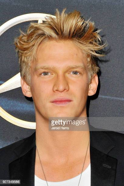 Cody Simpson arrives at MercedezBenz USA's Official Awards Viewing Party at Four Seasons Hotel on March 4 2018 in Beverly Hills California