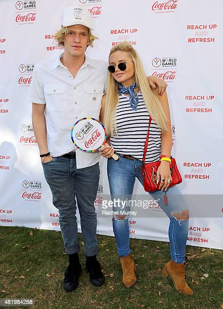 Cody Simpson arrives with sister Alli Simpson for Cody Bree Bogucki Madison Tevlin and Marc Roberge of OAR to open the 2015 Los Angeles Special...