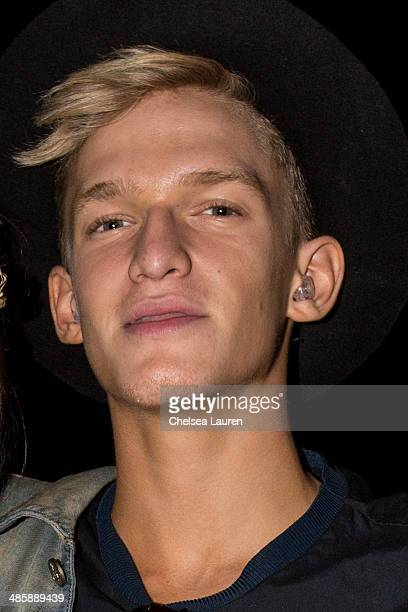 Cody Simpson attends the Coachella valley music and arts festival at The Empire Polo Club on April 20 2014 in Indio California