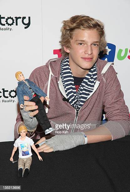 Cody Simpson attends the Cody Simpson Doll launch at Toys R Us in Times Square on December 8 2011 in New York City
