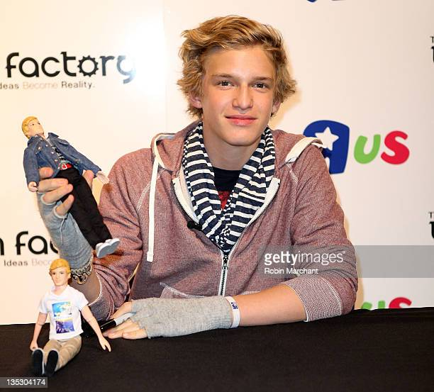Cody Simpson attends the Cody Simpson Doll launch at Toys 'R' Us Times Square on December 8 2011 in New York City