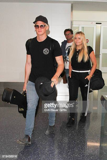 Cody Simpson is seen at LAX on April 06 2016 in Los Angeles California