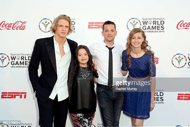 Cody Simpson Madison Tevlin Marc Roberge of OAR and Bree Bogucki attend 'CocaCola and ESPN Celebration Of The Human Spirit Of Eunice Kennedy Shriver'...