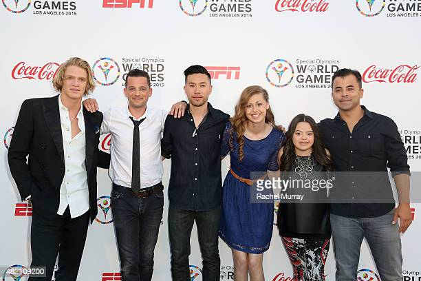 Cody Simpson OAR's Marc Roberge and Richard On Madison Tevlin Bree Bogucki and OAR's Benj Gershman attend 'CocaCola and ESPN Celebration Of The Human...