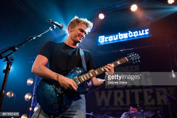 Cody Simpson performs at Guitar Center's Sixth Annual SingerSongwriter Grand Finale at Troubadour on March 24 2017 in West Hollywood California