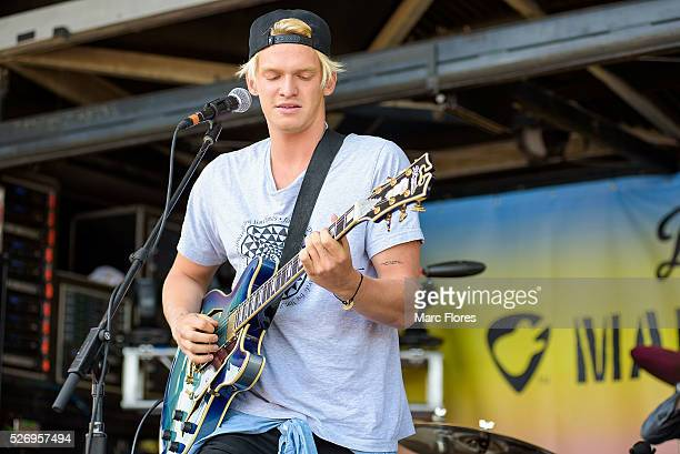 Cody Simpson performs on stage at Malibu Guitar Festival at Malibu Village on April 30 2016 in Malibu California