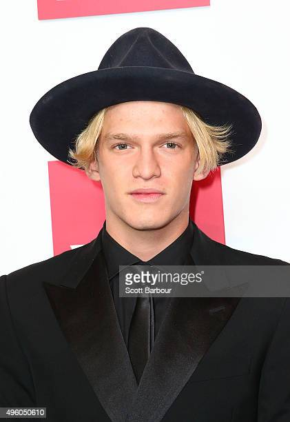 Cody Simpson poses at the Emirates Marquee on Stakes Day at Flemington Racecourse on November 7 2015 in Melbourne Australia