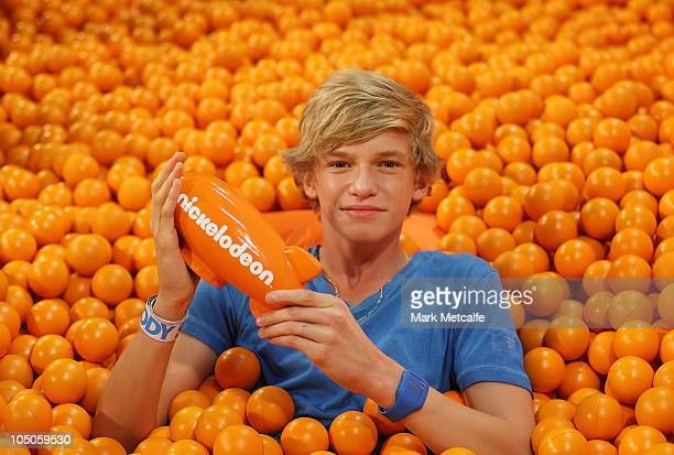 Cody Simpson poses with the award for Fresh Aussie Muso during the Australian Nickelodeon Kids' Choice Awards 2010 at the Sydney Entertainment Centre...