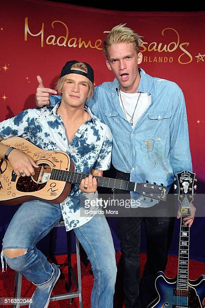 Cody Simpson unveils his figure at Madame Tussauds on March 18 2016 in Orlando Florida