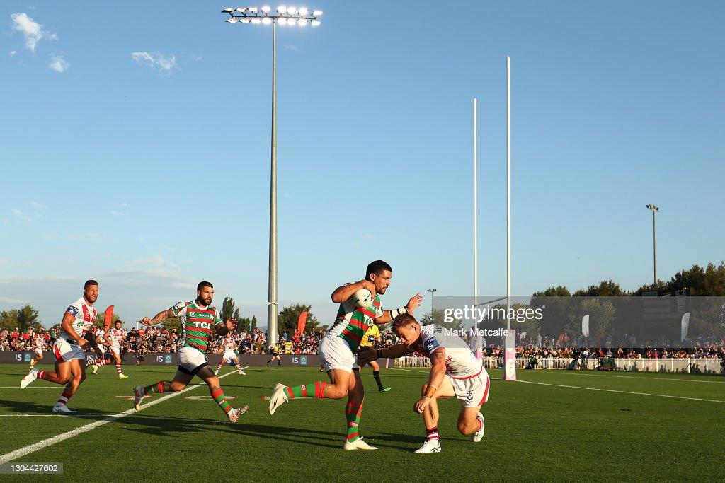 NRL Trial Match - Rabbitohs v Dragons : News Photo
