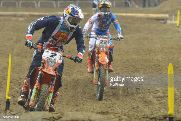 Cody Webb from USA in front of Jonathan Walker from UK during the final in Prestige category of the FIM Super Enduro World Championship 2017/2018 in...