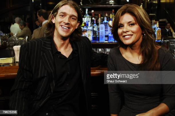 Cody Willard and Rebecca Gomez host the new show Happy Hour on FOX Business Network on October 17 2007 in the Waldorf Astoria Hotel in New York City...
