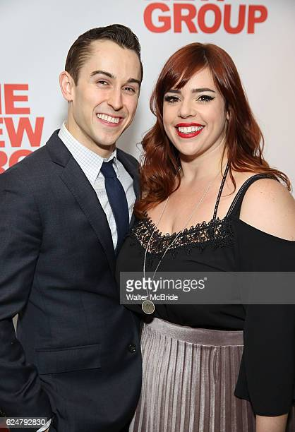 Cody Williams and Alysha Umphress attend the Opening Night Party for The New Group Production of 'Sweet Charity' at The Lindeman on November 20 2016...