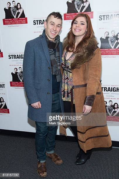 Cody Williams and Alysha Umphress attend the 'Straight' opening night at the Acorn Theatre on February 29 2016 in New York City