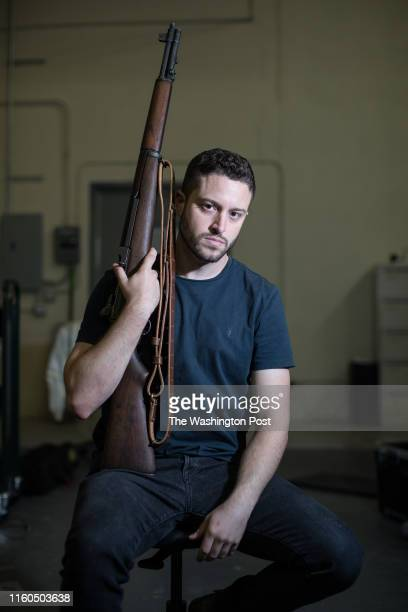 Cody Wilson director of Defense Distributed at his library behind the companys factory in Austin Texas on Aug 5 2018