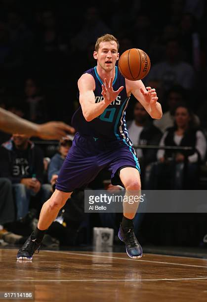 Cody Zeller of the Charlotte Hornets in action against the n during their game at the Barclays Center on March 22 2016 in New York City NOTE TO USER...
