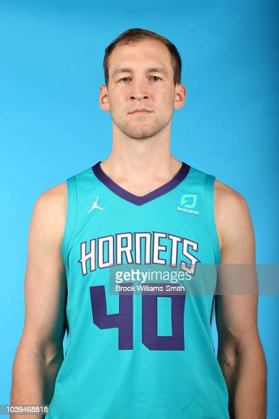 Cody Zeller of the Charlotte Hornets poses for a head shot during media day on September 24 at the Spectrum Center in Charlotte North Carolina NOTE...