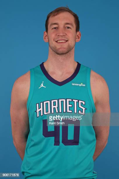 Cody Zeller of the Charlotte Hornets poses for a head shot in Charlotte North Carolina at the Spectrum Center on January 16 2018 NOTE TO USER User...