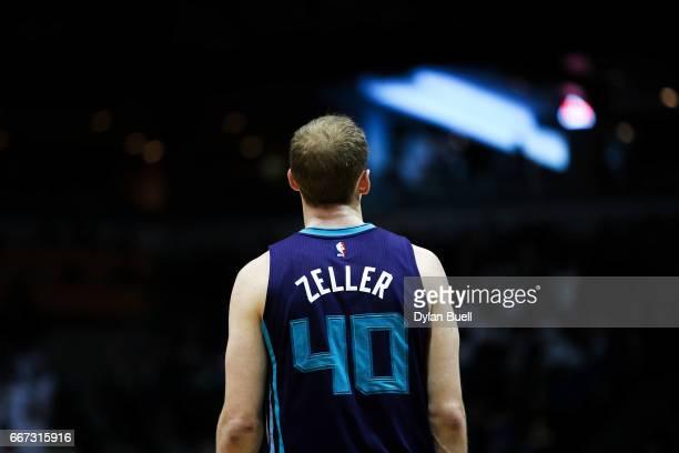 Cody Zeller of the Charlotte Hornets stands on the court in the fourth quarter against the Milwaukee Bucks at BMO Harris Bradley Center on April 10...