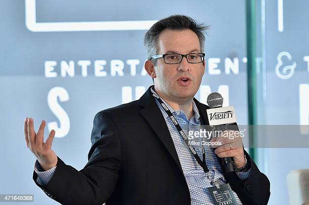 CoEditorinChief for Variety Andrew Wallenstein speaks onstage at Variety's Entertainment and Technology Summit NYC at Le Parker Meridien on April 30...