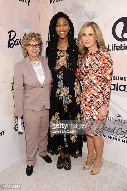 CoEditorinChief of Variety Claudia Eller actress Jessica Williams and Senior Vice President and publisher of Variety Michelle SobrinoStearns attend...