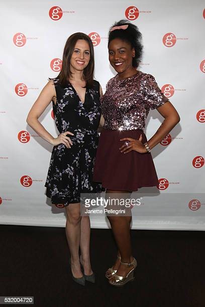 Coemcee Alicia Menendez Anchor and Special Correspondent at Fusion and Coemcee and mentee KirbyEstar Laguerre attend Girls Write Now Awards on May 17...