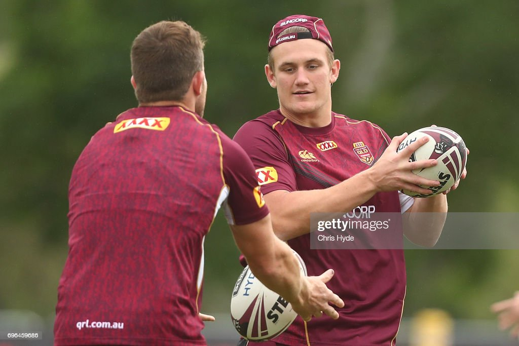 Coen Hess during a Queensland Maroons State of Origin training session at Intercontinental Sanctuary Cove Resort on June 16, 2017 in Brisbane, Australia.
