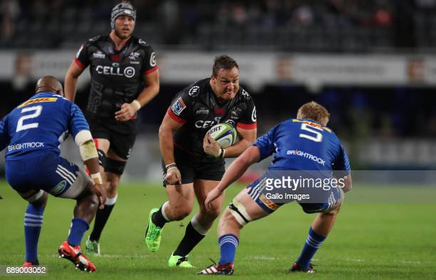 Coenie Oosthuizen of the Cell C Sharks during the Super Rugby match between Cell C Sharks and DHL Stormers at Growthpoint Kings Park on May 27 2017...