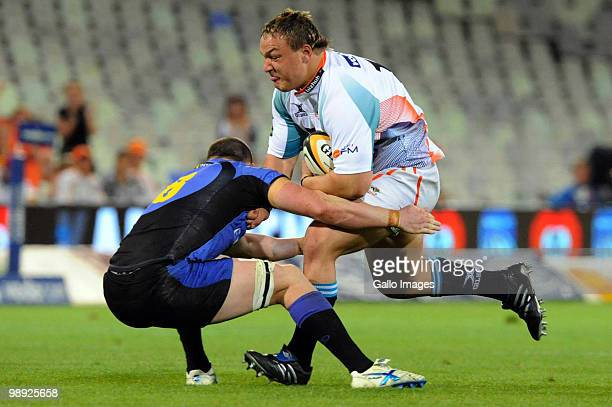 Coenie Oosthuizen of the Cheetahs in aciton during the Super 14 match between Vodacom Cheetahs and Western Force at Vodacom Park on May 8, 2010 in...