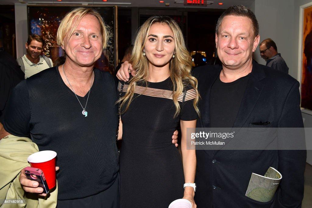 Coerte Felske, Esse de Kwiatkowski and Stephan de Kwiatkowski attend IV New York Gallery Grand Opening Exhibition on September 14, 2017 in New York City.
