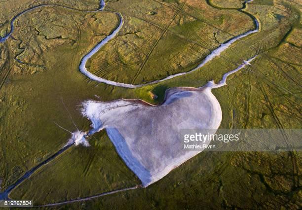 Coeur dans les polders du Mont Saint-Michel