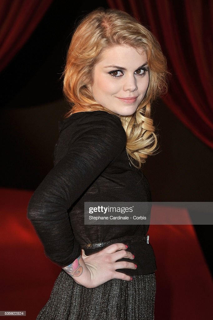 Coeur de Pirate (Beatrice Martin) arrives for 'Les Victoires de La Musique 2011', at Palais des Congres in Paris.