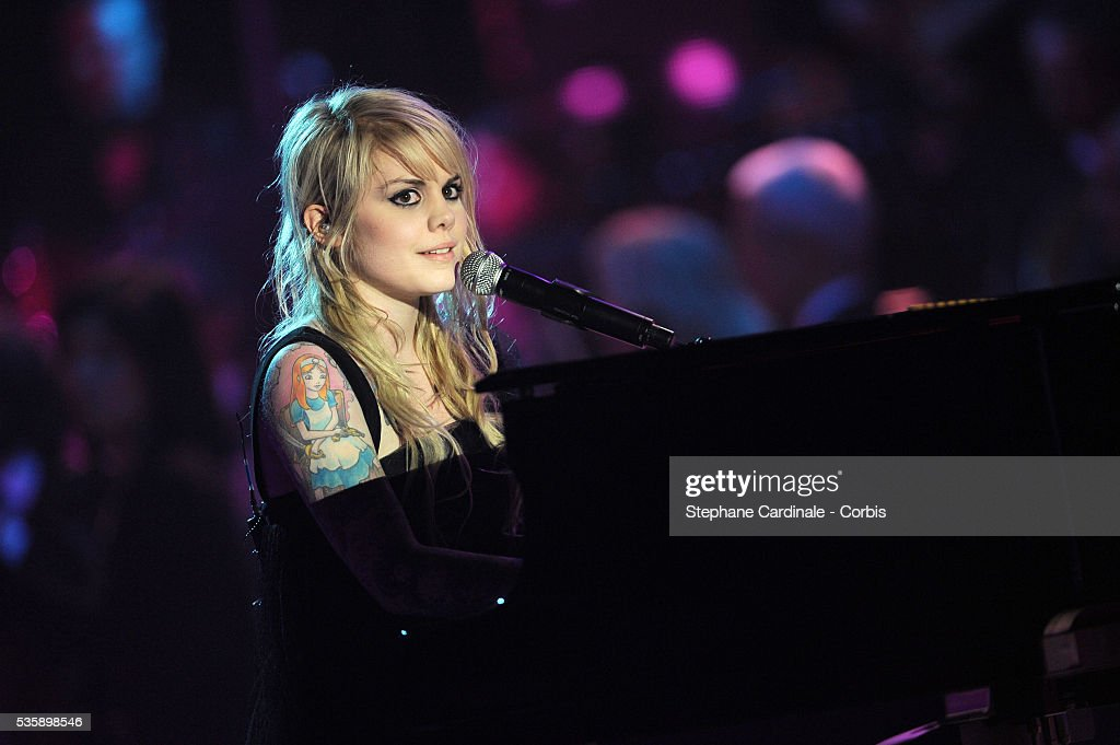 Coeur de Pirate (Beatrice Martin) performs at the '25th Victoires de la Musique' ceremony, held at the Zenith in Paris.