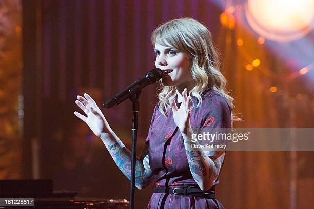 Coeur de Pirate performs during Francofolies New York A Tribute To Edith Piaf at Beacon Theatre on September 19 2013 in New York City