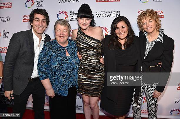 CoEvent Chair Brent Bolthouse Chief Executive Officer of the Los Angeles LGBT Center Lorri L Jean actress Pauley Perrette event cochair Annie Goto...