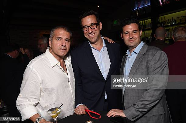 Coexecutive producer AJ Benza and producers Orien Richman and Adam Tenenbaum attend the after party for the premiere of 'So B It' at the Los Angeles...