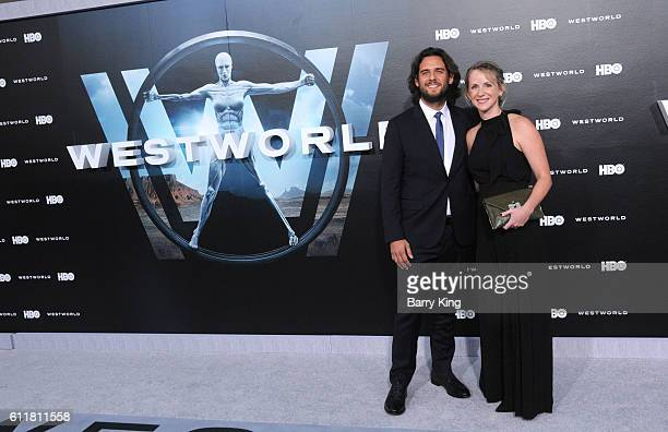 Coexecutive Producer Roberto Patino and Rachel attend the premiere of HBO's 'Westworld' at TCL Chinese Theatre on September 28 2016 in Hollywood...