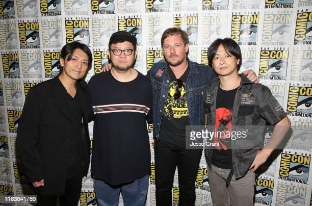 Co-Executive producer Shun Ochiai, character designer Takashi Okazak, musician Sturgill Simpson and writer/director Jumpei Mizusaki attend the...
