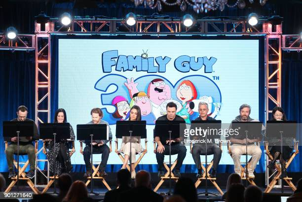 Coexecutve Producer Travis Bowe actors Rachael MacFarlane Seth Green and Mila Kunis creator/executive producer Seth MacFarlane executve...