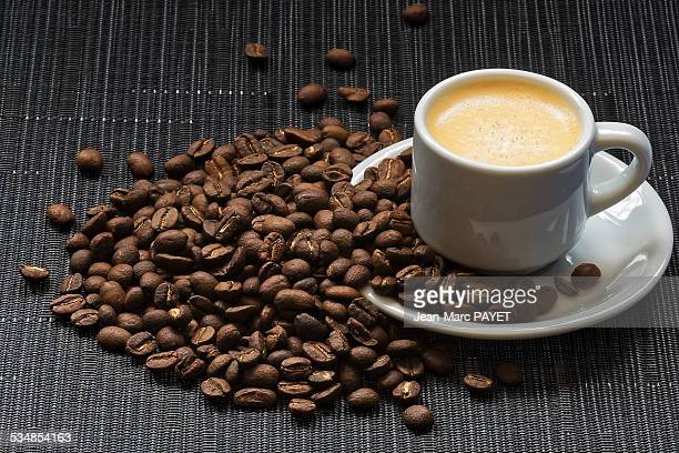 coffe and coffee bean - jean marc payet stock pictures, royalty-free photos & images