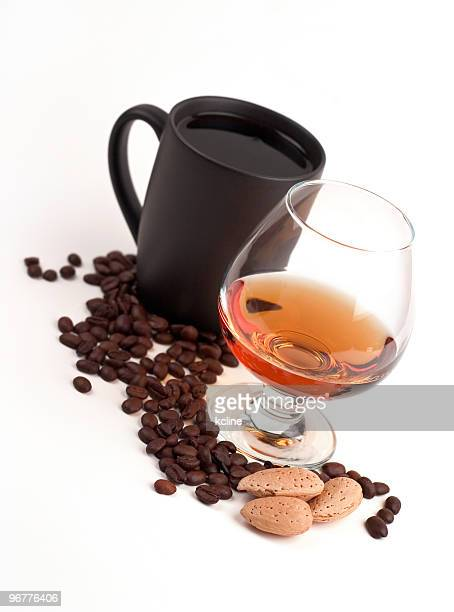 coffee & amaretto - caffeine stock pictures, royalty-free photos & images