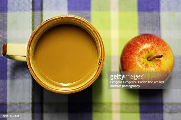 coffee and apple - gregoria gregoriou crowe fine art and creative photography stock pictures, royalty-free photos & images