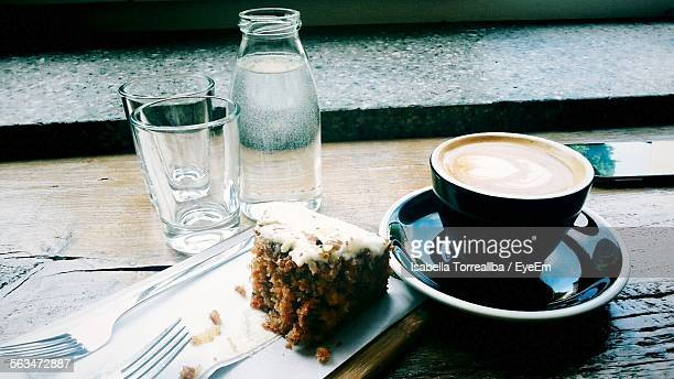 Coffee And Cake On Table