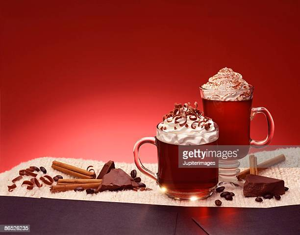 coffee and chocolate beverage - coffee drink stock pictures, royalty-free photos & images