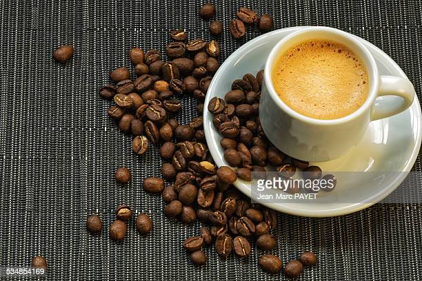 coffee and coffee bean - jean marc payet stock pictures, royalty-free photos & images