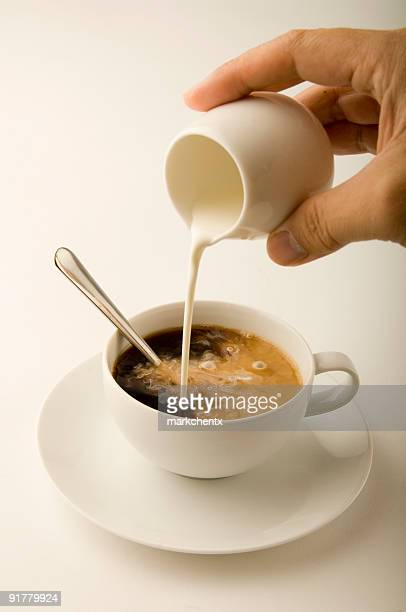 coffee and cream - saucer stock pictures, royalty-free photos & images