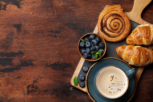 Coffee and croissants breakfast 1130418878
